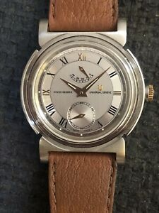 Universal Geneve Power Reserve, Old Stoc, Big Size, Alta Calidad, All Steel Case