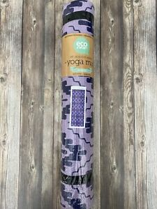 """Eco One Yoga Mat Modern Size 24""""w X 68""""l Lightweight Adjustable Carry Strap New"""