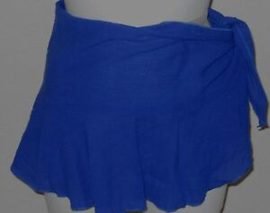 Roxy Women's Blue Cover Up Wrap Skirt One Size