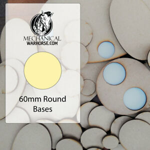 60mm Mdf Bases For War Gaming Miniatures 40k D&d Infinity Age Of Sigmar