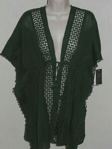 Nwt Vince Camuto Swimsuit Cover Up Tunic Dress Tie Front Palm Size M L
