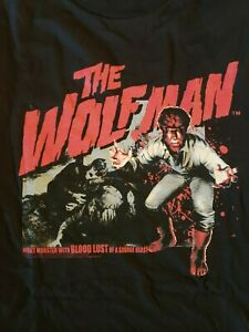 Universal Monsters The Wolfman T-shirt S-2xl