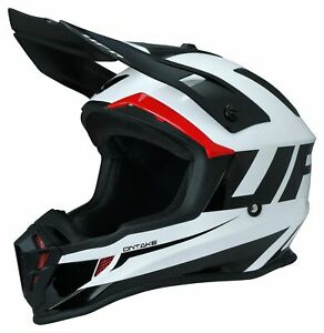 Ufo Quiver Ontake Mx Helmet Black Red White Motocross Reduced Cheap Mtb Off Road