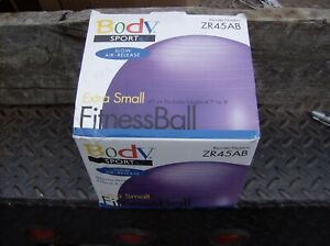 Body Sport Exercise Ball Extra Small Purple Yoga Fitness Workout At Home 45 Cm
