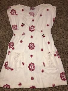 Authentic Juicy Couture Terry Cloth Summer Dress Beach Pool Cover Up Size Large