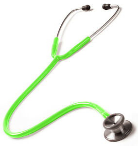 Prestige Medical Clinical I Stethoscope #126 *neon Green* New Free Usa Shipping