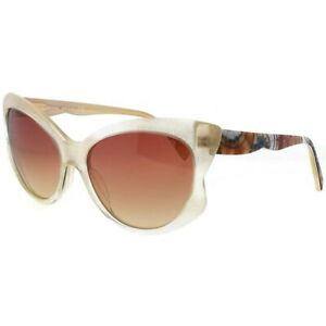 Emilio Pucci Ep0049-25z-58 Cat Eye Women's White Frame Red Lens Sunglasses Nwt