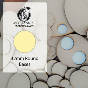 32mm Mdf Bases For War Gaming Miniatures 40k D&d Infinity Age Of Sigmar