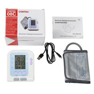 Electronic Sphygmomanometer,lcd Nibp Blood Pressure Monitor Upper Arm Contec08c