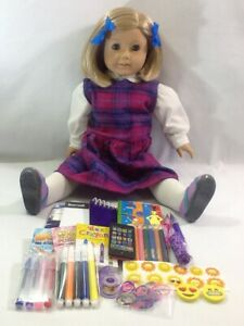 American Girl Doll School Supplies And Back Pack Refill Set For 18