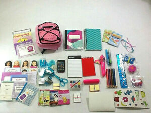 American Girl Doll 75+piece School Supplies Backpack Accessories 18