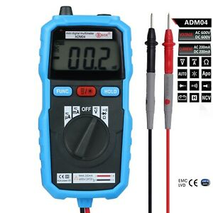 Adm06 Smart Auto Detect Voltage And Ohm Work/backlight Buzz Diode Non-contact Us