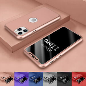For Iphone 11,11 Pro Max 360° Full Protective Hard Case Cover + Screen Protector