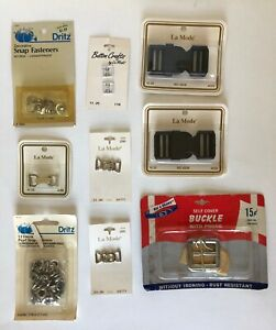 New And Vintage Lot Buckles Snaps Accessories Supplies Belt Making