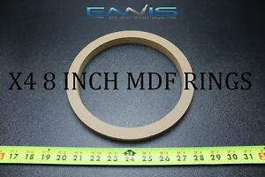 4 Mdf Speaker Rings Spacer 8 Inch Wood 3/4 Thick Fiberglass Box Ee-ring-8rx4