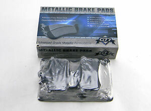 Set Of 4  New G77 Md228 Rear Advanced Grade Metallic Formulation Brake Pads