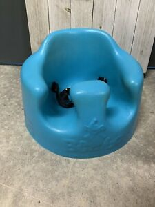 Blue Bumbo Floor Seat W/ Straps Great Conditon