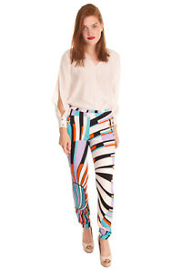 Rrp €835 Emilio Pucci Trousers Size It 44 / M Stretch Patterned Made In Italy