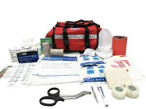 Line2design First Aid Kit - Paramedic Rescue Emergency First Responder Kit - Red