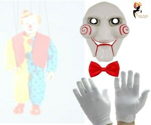 Scary Clown Puppet Unisex Halloween Fancy Dress Costume Horror Accessory Lot