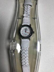 Prestige Medical Wrist Watch Military Time Braided Band New Needs Battery