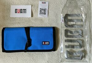 Blue Roll Bag, Bubm Universal Small Gadget Accessories Travel Carry Storage Bag