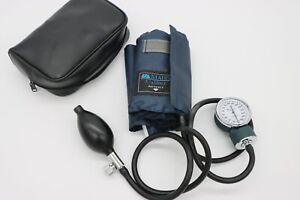 Mabis Certified Caliber Sphygmomanometer Blue Nylon Cuff For Adult