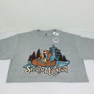 Splash Mountain Grey T-shirt Adult Large L - Disney Parks New With Tags Wet