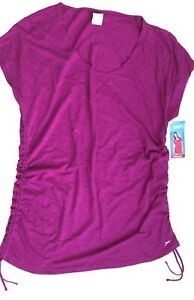Speedo Swim Cover Up Adjustable Length Size Xl Fuchsia New With Tags