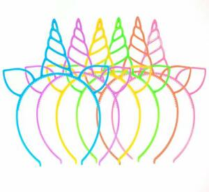 18 Pack Unicorn Headbands Girls Hair Accessories Party Favors Supply Fairy New
