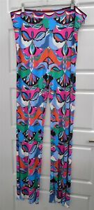 Emilio Pucci Archivio Silk Rayon High Rise Flared Trousers Pants Italy Sz 16