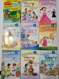 9 I Can Read Level 1 Beginning Reader Book Lot Fancy Nancy Pinkalicious Curious