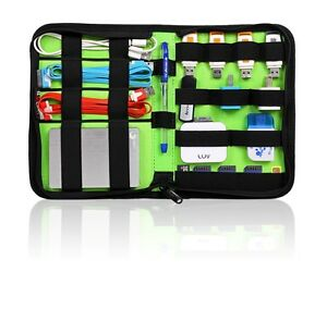 Bubm Function Accessories Storage Carry Bag Case For Cable Memory Cards Usb