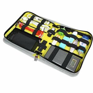 Universal Grey Travel Case Organiser Electronics & Accessories Cables Chargers