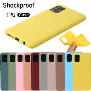 For Samsung Galaxy A71 A51 A30s A20e A10 Slim Silicone Color Frosted Case Cover