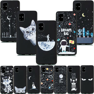 For Samsung Galaxy A71 A51 A10e Frosted Cover Shockproof Painted Silicone Case