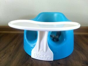 Bumbo Baby Seat Safety Belt Straps Foam Booster & Tray Excellent Condition Teal