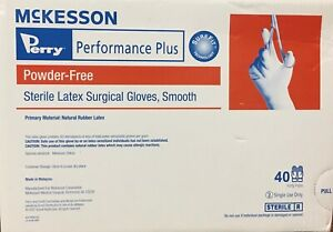 Mckesson Sterile Latex Surgical Gloves, Powder-free, 40 Pairs/box (qty 1 Avail)