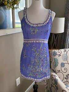 Rare Vintage 1960's Fab Print Emilio Pucci For Formfit Rogers Sleep Gown Size M