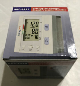 Dbp-2229 Blood Pressure Monitor Wrist Type Fully Automatic, Free Shipping