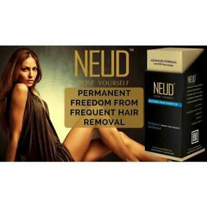 Neud Natural Hair Inhibitor Cream For Permanent Body Hair Removal- 80gm-unisex
