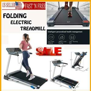 Folding Treadmill Electric Treadmill With Bluetooth Speakers And 3 Tilt Options