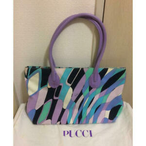 Real Emiriopucci Emilio Pucci Geometric Pattern Tote Bag Available F/s Used