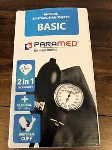 New Paramed Aneroid Basic Sphygmomanometer 2 In 1 Technology Clinical Acc Black