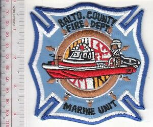 Fire Boat Maryland Baltimore County Fire Department Marine Unit Balto County, Md