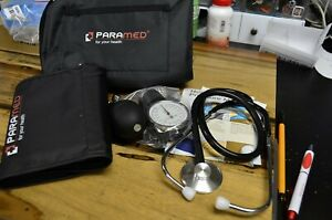 Manual Blood Pressure Cuff By Paramed - Professional Aneroid Sphygmomanometer