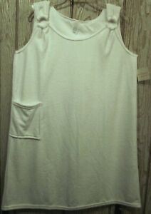 New Sleeveless White Terry Cover-up S/m/l/x/2x/3x Made In Usa