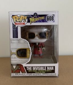 Funko Pop! Universal Monsters The Invisible Man #608 Exclusive No Sticker