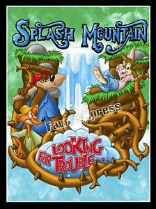 Disney Splash Mountain Looking For Trouble Poster Magnet- Thin Flexible