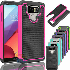 Slim Impact Hybrid Rugged Rubber Hard Bumper Case Protective Cover For Lg G6